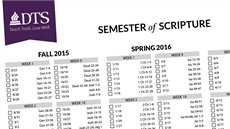 Semester-Based Bible Reading Plan