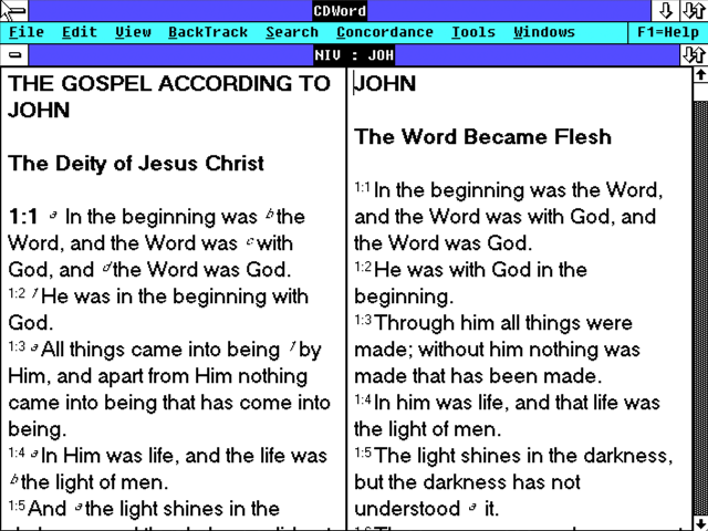 CDWord NASB and NIV